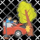 Car Crashed Damaged Car Car Accident Icon