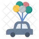 Balloon Car Happiness Icon