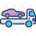 Car Delivery Service Evacuate Icon