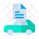 Car Document Maintenance Icon