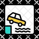 Car Drowning Car Drowning Icon
