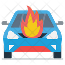 Car Engine Burning Icon