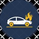 Car Engine Flaming Automobile Car Icon