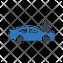 Car Burning Vehicle Icon