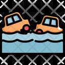 Car Flood Natural Disaster Icon