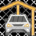 Car Garage Vehicle Workshop Carparked Icon