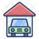 Car Garage Garage Car Porch Icon