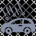 Car Hail Damage Icon