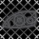 Car Headlight Auto Icon