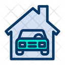 Auto Service Car Car Shed Icon