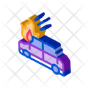 Car Ignition Crash Icon