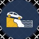 Car In Falling Icon