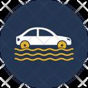 Car In Flood Icon