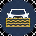 Car In Flood Water Autonomous Icon