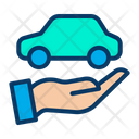 Hand Protection Car Icon