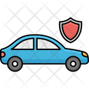 Car Insurance Shield Automobile Autonomous Icon