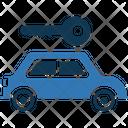 Car With Key Key Taxi Icon