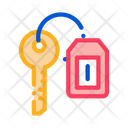 Car Key Labelweb Icon