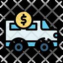 Car Loan Bank Coin Icon