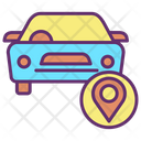 Mcar Track Navigate Car Location Car Navigation Icon