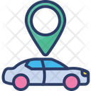 Car Location Pin Map Icon