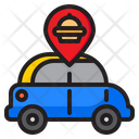 Car Food Delivery Icon