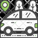 Car Location Taxi Location Car Tracker Icon