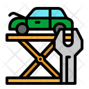 Car Maintenance Mechanic Lift Icon