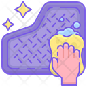 Car Mat Cleaning Icon