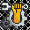 Car Mechanic Repair Hand Wrench Icon
