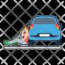 Car Mechanic Collision Repair Auto Repairman Icon