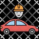 Car Mechanic Person Autonomous Car Icon