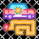 Car Navigation Smart Icon