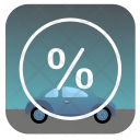 Car on discount Icon
