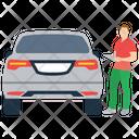 Car Owner Car Agent Car Key Icon