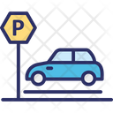 Car Parking Carport Garage Icon