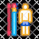 Human Height Measurement Icon