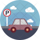 Airport Parking Car Icon