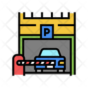 Car Parking Barrier Checkpoint Icon