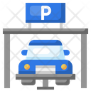 Car Parking Parking Entry Parking Gate Icon