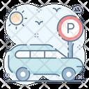 Car Parking Location Parking Car Garage Icon