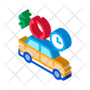 Money Parking Car Icon