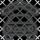 Car Shade Garrage Car Stand Icon