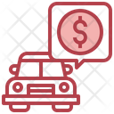 Car Price Dollar Payment Icon
