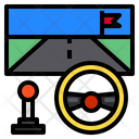 Car Racing Game Player Entertainment Icon