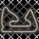Car Racing Path Circuit Race Icon