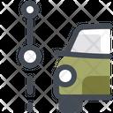 Car Segment Path Navigation Icon