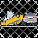 Car Roll Over Traffic Collision Car Crash Icon