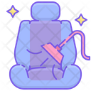 Car Seat Cleaning Icon