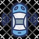 Car Sensor Automation Autopilot Mode Icon